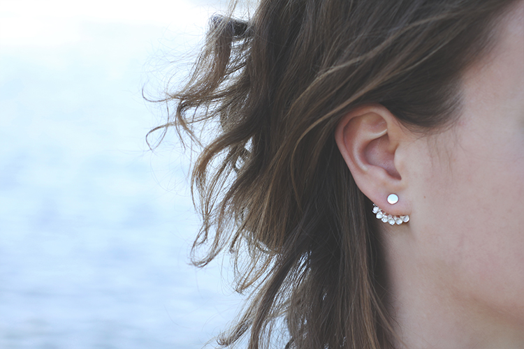 front back earrings oorsieraad waaier opus ada